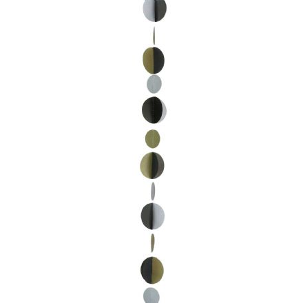 Gold/Black Circle Balloon Tail